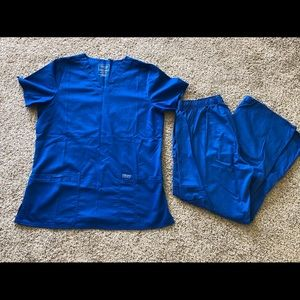 Cherokee royal blue scrubs